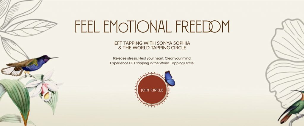 EFT tapping emotional freedom with Sonya Sophia