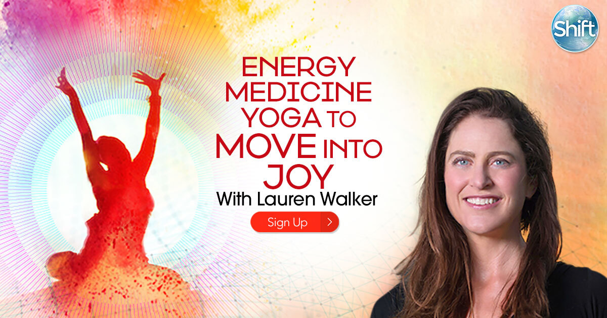 """Energy Medicine Yoga teacher Lauren Walker will show you how Energy Medicine Yoga and working with one of its nine energy systems — the Radiant Circuits — can help you liberate the stuck energies of your difficult emotions, clear the way for more joy, and initiate a """"rebirth"""" of your body and mind."""